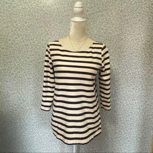 ❤️J.Crew Black White Striped Cotton Long Sleeve S